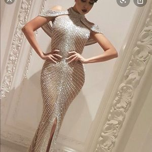 Couture evening gown